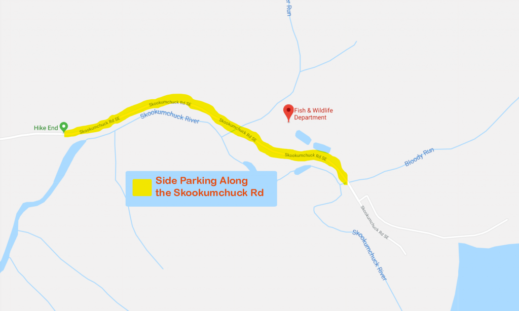 Skookumchuck parking map