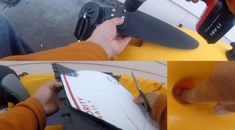 Upgrading Hobie Revo drainage hole seat rudder