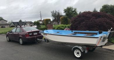 Small Car Towing Boat